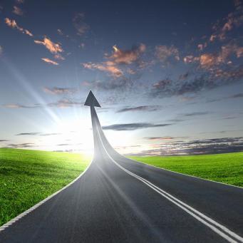 highway road going up